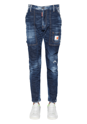 16.5cm Workers Cotton Denim Jeans
