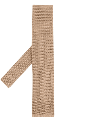 Tom Ford knitted tie - Neutrals