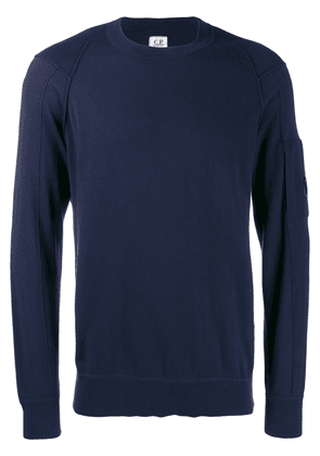 CP Company goggle lens patch sweater - Blue