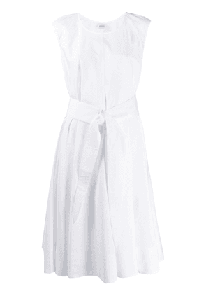Aspesi bow tie midi dress - White