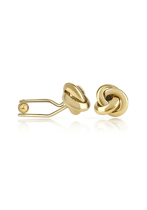 Knot Gold Plated Cuff Links