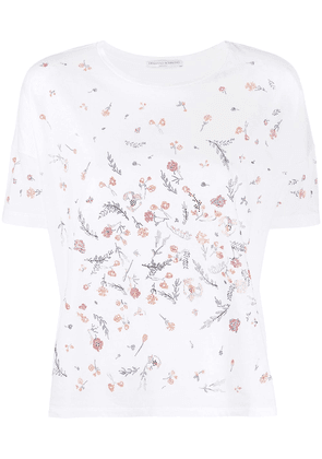 Ermanno Scervino embellished flower T-shirt - White