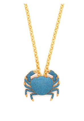 Begum Khan - Royal Crab Gold Plated Pendant Necklace - Womens - Blue