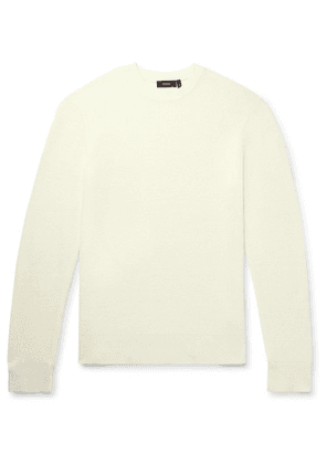 Theory - Davies Textured-knit Linen-blend Sweater - Off-white