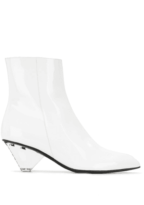 Balmain conical heel ankle boots - White