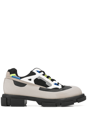 Both colour block lace-up - Grey