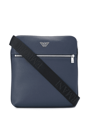 Emporio Armani logo shoulder bag - Blue