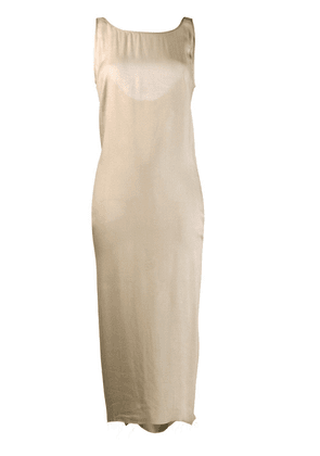 Cherevichkiotvichki shift maxi dress - Neutrals