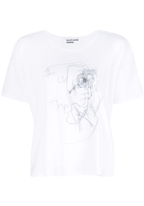 Enfants Riches Déprimés scribbled T-shirt - White