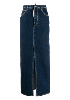 Dsquared2 long pencil denim skirt - Blue