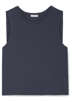 Eberjey - Romy Clique Cropped Pima Cotton-jersey Pajama Top - Navy