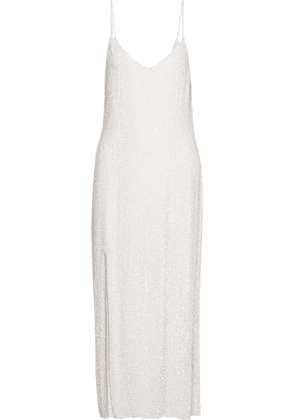 Retrofête - Rebecca Sequined Chiffon Gown - White