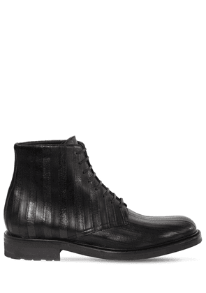 20mm Army Leather Lace-up Boots