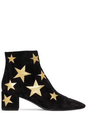50mm Loulou Star Suede Ankle Boots
