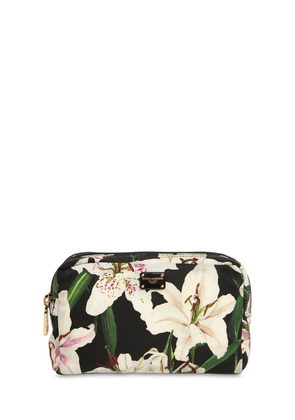 Lily Print Nylon Make Up Bag