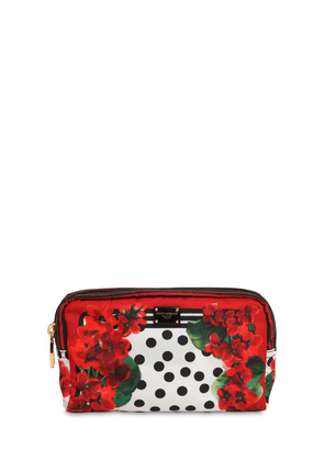 Geranium Print Nylon Make Up Bag