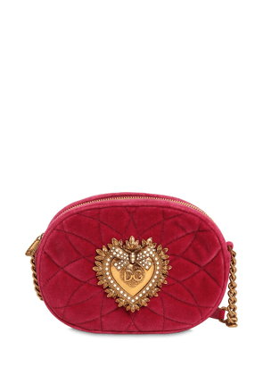 Devotion Quilted Velvet Camera Bag
