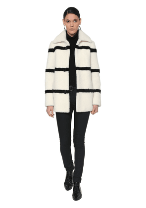 Striped Shearling Coat