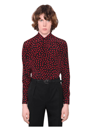 Printed Silk Crepe Shirt