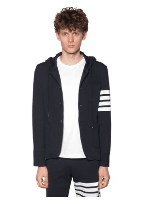 Hooded Cotton Jacket W/4 Bar Detail