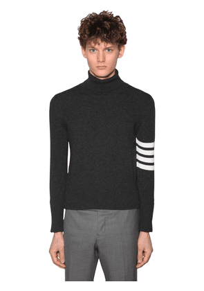Cashmere Knit Sweater W/4 Bar Detail