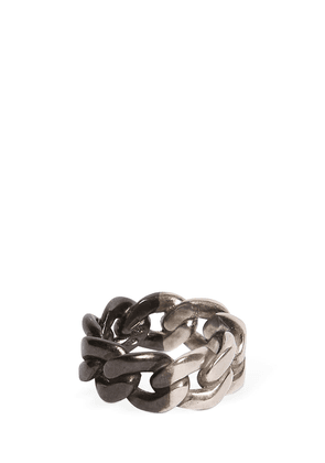 Bi Color Silver Chain Ring