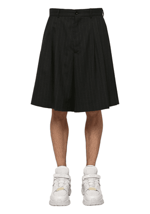 Loose Virgin Wool Shorts