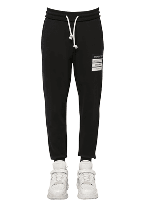 Cotton Sweat Pants W/ Patch