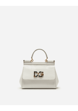 e0a81150f0 Dolce & Gabbana Bags - SMALL CALFSKIN SICILY BAG WITH IGUANA-PRINT AND DG  CRYSTAL