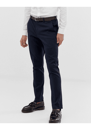 River Island skinny suit trousers in navy