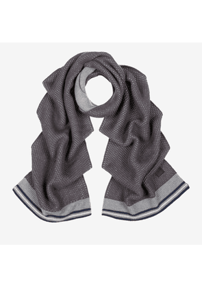 Cable Knit Scarf Grey 1