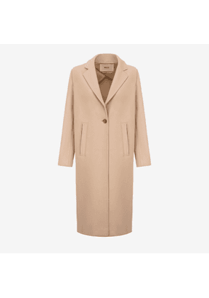 Single Breasted Long Coat Beige 40