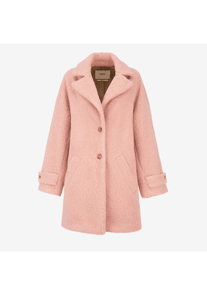 Faux Shearling Coat Pink 38