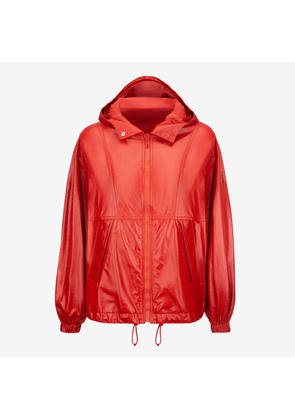 Naplak Hooded Blouson Jacket Red 40