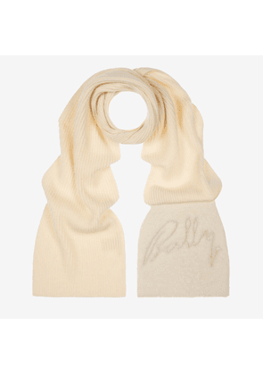 Shearling Detailed Scarf White 1