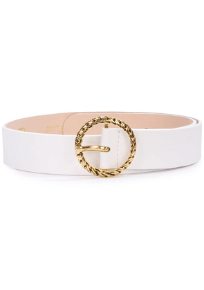 B-Low The Belt gold circle buckle belt - White
