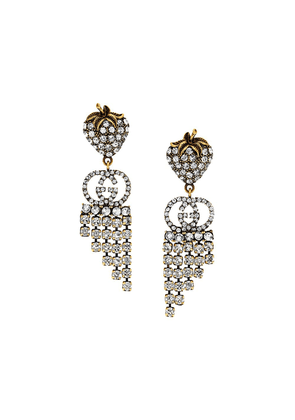 Gucci crystal hanging earrings - Gold