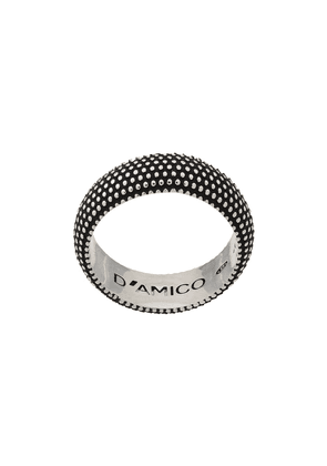 Andrea D'amico thick embossed ring - Silver