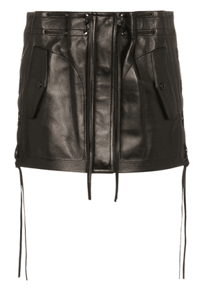 Saint Laurent fringe detail skirt - Black