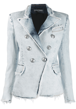 Balmain denim blazer - White