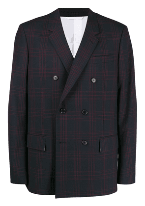 Calvin Klein 205W39nyc checked double-breasted blazer - Blue