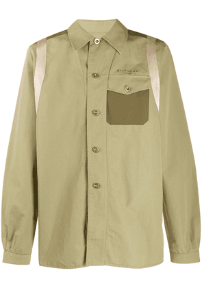 Givenchy panelled button-up shirt - Green