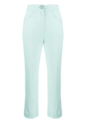 Balmain cropped trousers - Green