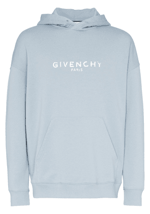 Givenchy faded logo hoodie - Blue