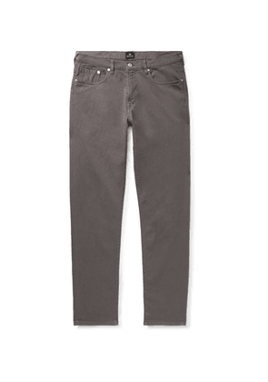 PS Paul Smith - Slim-fit Tapered Garment-dyed Denim Jeans - Dark gray