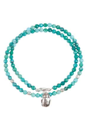 Catherine Michiels scarab beetle beaded necklace - Green