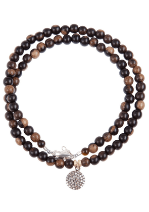Catherine Michiels crystal disc beaded necklace - Brown