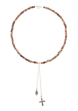 Catherine Michiels charm necklace - Brown