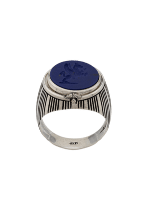 Andrea D'amico chunky ring with stone - Metallic