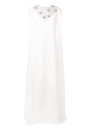 Givenchy cape-sleeve gown - White